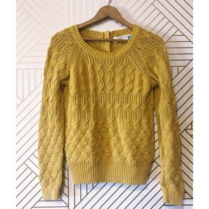 Anthropologie Sparrow Mustard Yellow Knit Sweater